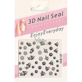 Nail Accessory 3D nálepky na nehty 10100 HLB-127 1 aršík