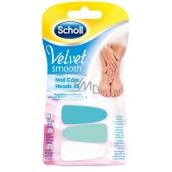 Scholl Velvet Smooth Pink náhradní hlavice do elektrického pilníku na nehty 3 kusy