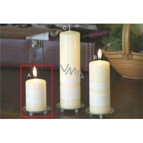 Lima Krajka svíčka creme válec 60 x 90 mm 1 kus