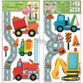 Room Decor Samolepky na zeď metr silnice s auty pro děti 120 x 32 cm