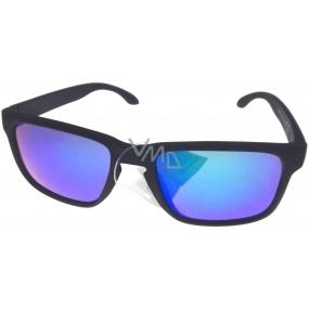 Dudes & Dudettes Sluneční brýle pro děti černé modrozelená skla JK4420