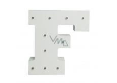Nekupto Dřevěné LED písmeno F dekorace 16 cm