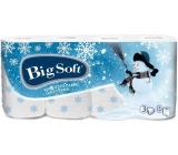 Big Soft Zima Sněhulák toaletní papír s potiskem 3 vrstvý 160 útržků 8 kusů