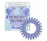 Invisibobble Original Circus Collection Irrelephant originální vlasové gumičky čiré se světle modrým proužkem slon 3 kusy