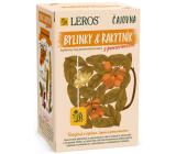 Leros Bylinky & Rakytník s pomerančem aromatizovaný bylinný čaj k odolnosti proti únavě, podporuje přirozenou obranyschopnost organismu i normální trávení 20 nálevových sáčků po 2 g