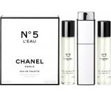 Chanel No.5 L Eau toaletní voda pro ženy komplet 3 x 20 ml