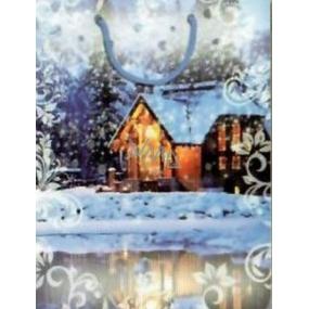 Nekupto Dárková papírová taška 14 x 11 x 6,5 cm Vánoční 1275 40 WKAS