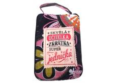 Albi Skládací taška na zip do kabelky s nápisem Učitelka 42 x 41 x 11 cm