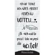 Bohemia Gifts & Cosmetics Mléčná čokoláda pro učitele Pokud tohle dokážeš přečíst, poděkuj učiteli dárková 100 g