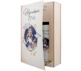 Bohemia Gifts & Cosmetics Báječná žena Levandule sprchový gel 200 ml + Levandule olejová lázeň 200 ml, kniha kosmetická sada