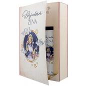 Bohemia Gifts Báječná žena Levandule sprchový gel 200 ml + Levandule olejová lázeň 200 ml, kniha kosmetická sada