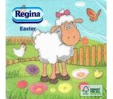 Regina Velikonoční papírové ubrousky Ovečka 1 vrstvé 33 x 33 cm 20 kusů