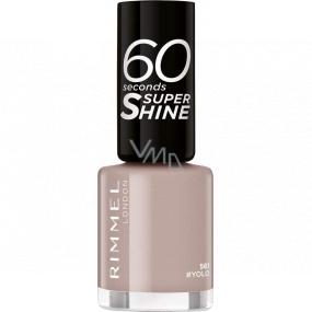 Rimmel London 60 Seconds Super Shine Nail Polish lak na nehty 561 Yolo 8 ml