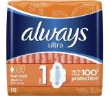 Always Ultra Normal Plus hygienické vložky 10 kusů