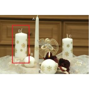 Lima Vločka svíčka bílá válec 60 x 120 mm 1 kus