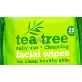 Xpe Tea Tree Peppermint čisticí ubrousky na obličej 2 x 25 kusů