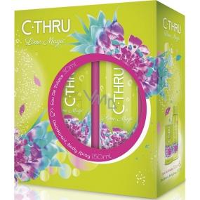 C-Thru Lime Magic toaletní voda pro ženy 30 ml + deodorant sprej 150 ml, dárková sada