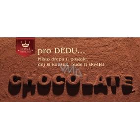 Bohemia Gifts & Cosmetics Pro dědu Hořká čokoláda dárková 100 g