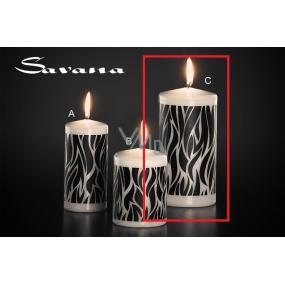 Lima Savana svíčka černá válec 80 x 150 mm 1 kus