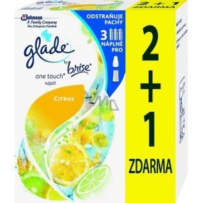 Glade by Brise One Touch Citrus mini sprej náhradní náplň do osvěžovače vzduchu 3 x 10 ml