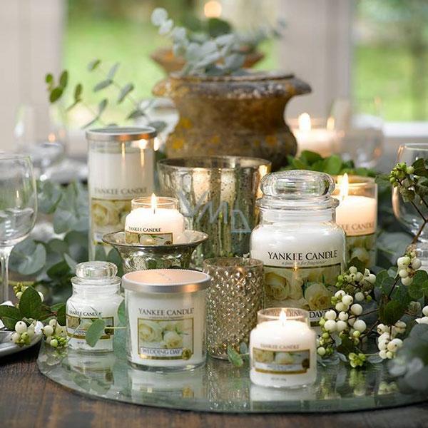 Yankee Candle Wedding Day Scented Clic Medium Gl 411 G Vmd Parfumerie Drogerie