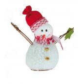 Sněhulák se stromečkem na postavení 15 cm