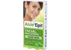 Aloe Epil Facial depilační voskové pásky na obličej 12 + 2 kusů