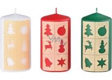 Arome Okénka vánoční motiv svíčka válec 60 x 110 mm 255 g 1 kus