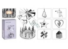 Andělské zvonění stříbrné na čajovou svíčku 65 x 160 mm