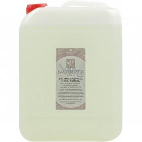 Lavosept K Trnka dezinfekce ploch a nástrojů roztok na mytí pro profesionální použití více jak 75% alkoholu 5 l