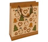 Nekupto Dárková kraftová taška 25 x 8 x 19 cm Vánoční perníčky 591 WKHM