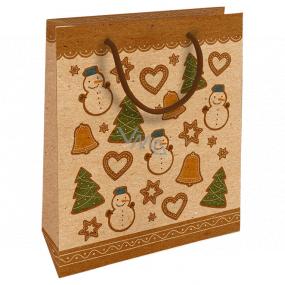 Nekupto Geschenk Kraftbeutel 25 x 8 x 19 cm Weihnachtslebkuchen 591 WKHM
