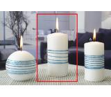 Lima Exclusive svíčka modrá válec 60 x 120 mm 1 kus
