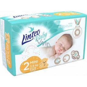 Linteo Baby Premium 2 Mini 3 - 6 kg jednorázové plenky 34 kusů