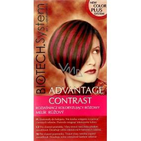 Biotech System Advantage Contrast růžový melír na vlasy 15 g + 30 ml