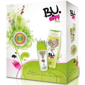 B.U. Hippy Soul parfémovaný deodorant sklo 75 ml + sprchový gel 250 ml, pro ženy dárková sada