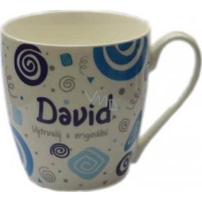 Nekupto Twister hrnek se jménem David modrý 0,4 litru