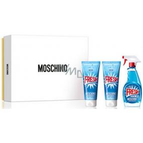 Moschino Fresh Couture toaletní voda pro ženy 50 ml + sprchový gel 50 ml + tělové mléko 50 ml, dárková sada