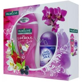 Palmolive Zimní zahrada Aroma Sensations Feel Glamorous hýčkající sprchový gel 250 ml + Lady Speed Stick Fresh & Essence Luxurious Freshness deodorant roll-on pro ženy 45 g, kosmetická sada