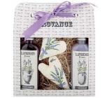 Bohemia Gifts Lavender La Provence krémový sprchový gel 100 ml + šampon 100 ml + patchwork 2 kusy, kosmetická sada