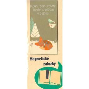 Albi Magnetická záložka do knížky S knížkou v posteli 9 x 4,5 cm