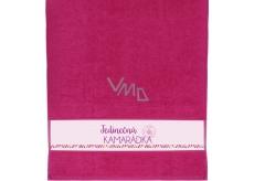 Albi Ručník Jedinečná kamarádka růžová 90 cm × 50 cm