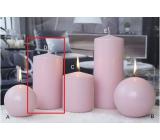 Lima Ice pastel svíčka růžová válec 80 x 150 mm