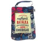 Albi Skládací taška na zip do kabelky se jménem Natálka 42 x 41 x 11 cm