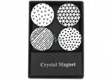 Albi Krystalové magnetky černobílé pruhy 4 kusy