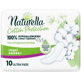 Naturella Cotton Protection Ultra Maxi hygienické vložky s křidélky 10 kusů