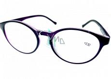 Berkeley Čtecí dioptrické brýle +3,5 plast fialové matné, kulaté skla 1 kus MC2182