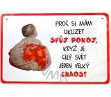 Nekupto Humor po Česku humorná cedulka 017 15 x 10 cm 1 kus