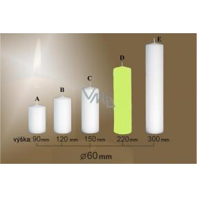 Lima Svíčka hladká světle zelená válec 60 x 220 mm 1 kus