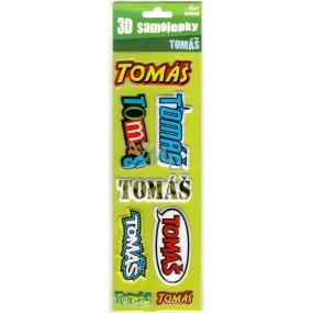 Nekupto 3D Samolepky se jménem Tomáš 8 kusů 073